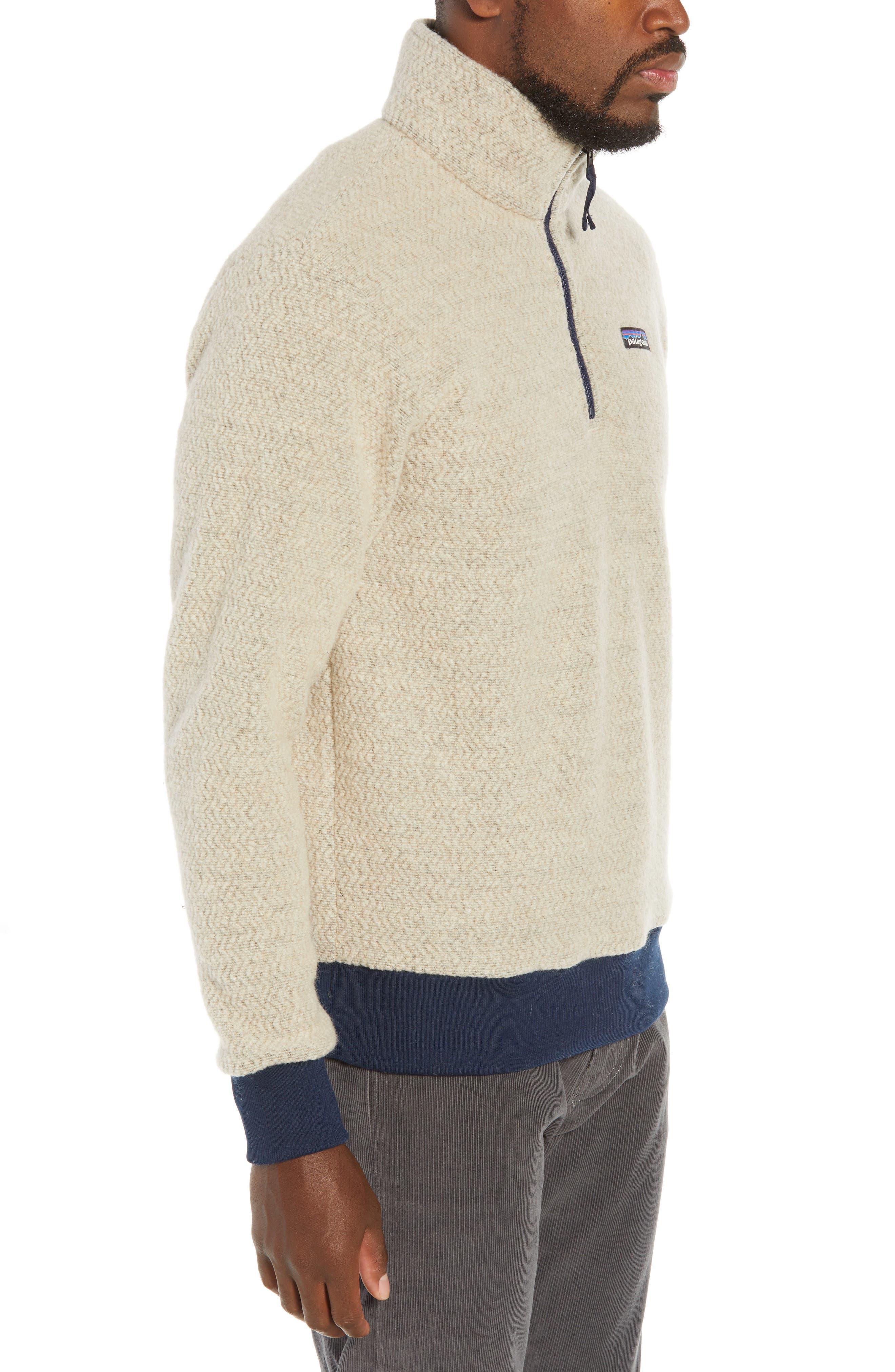 ,                             Woolyester Fleece Quarter Zip Pullover,                             Alternate thumbnail 3, color,                             OATMEAL HEATHER
