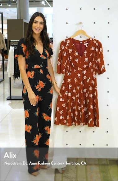 Paintbrush Floral Silk Blend Dress, sales video thumbnail