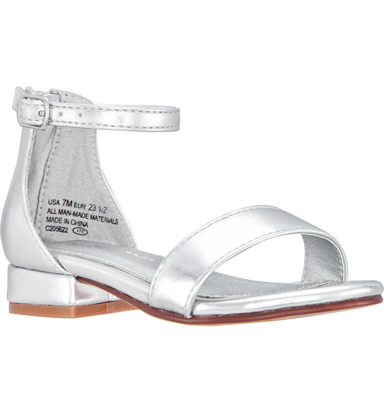 NINA Hidi Sandal, Main, color, SILVER METALLIC