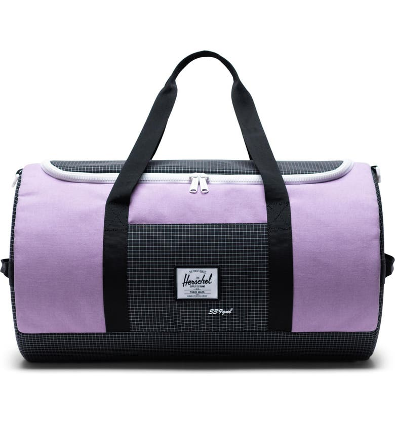 HERSCHEL SUPPLY CO. Sutton Duffle Bag, Main, color, REGAL ORCHID/ BLACK