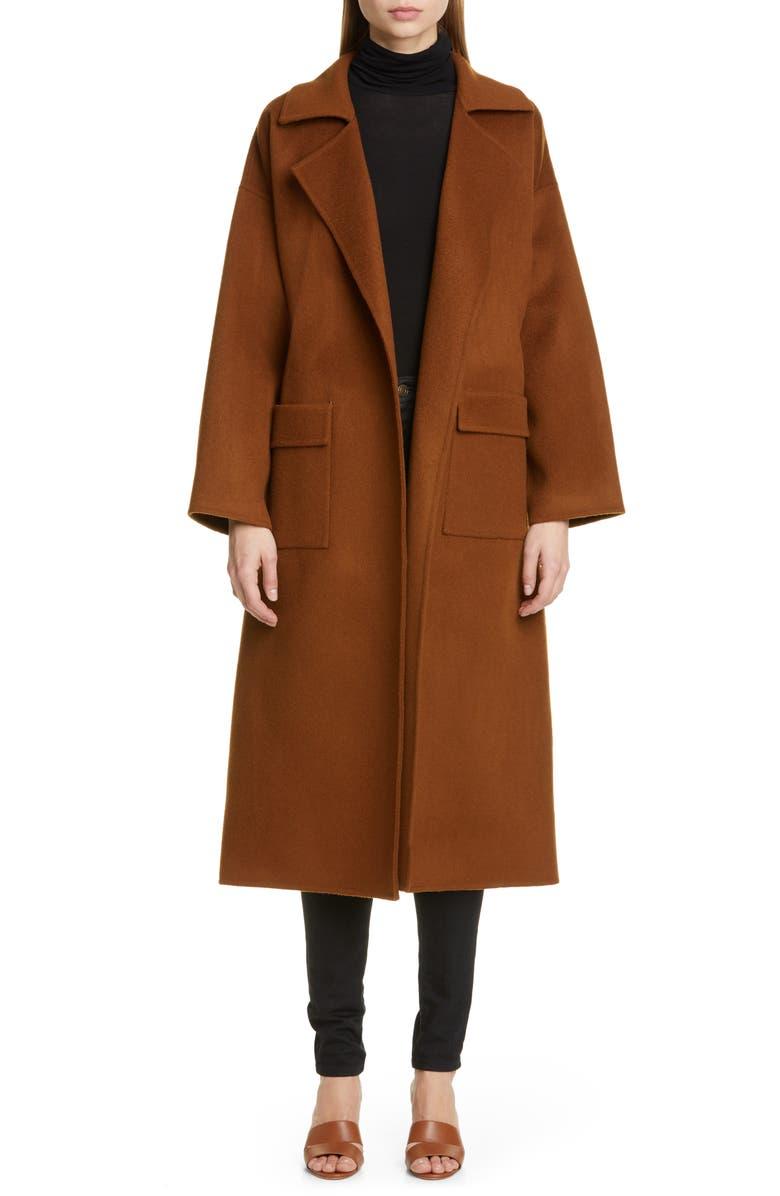 REJINA PYO Meryl Belted Wool Blend Coat, Main, color, WOOL CHESTNUT
