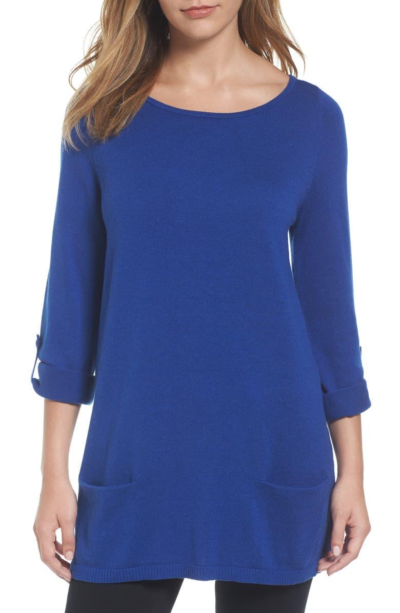CASLON<SUP>®</SUP> Knit Tunic, Main, color, 402