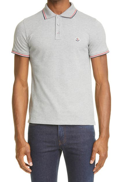 Moncler BLACK SHORT SLEEVE PIQUE POLO