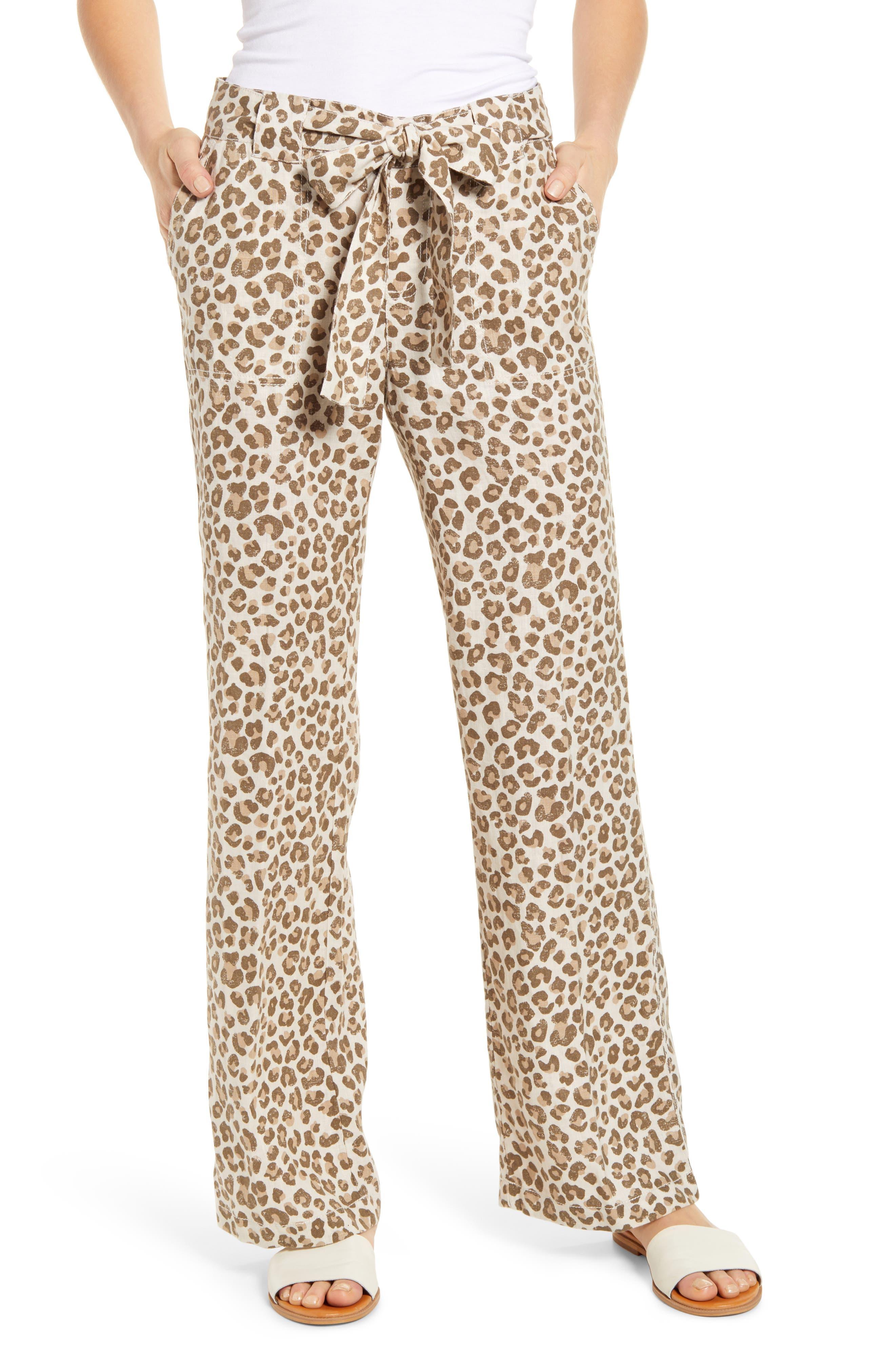 CaslonR Petite Women's Caslon Linen Drawstring Pants,  X-Large P - Beige
