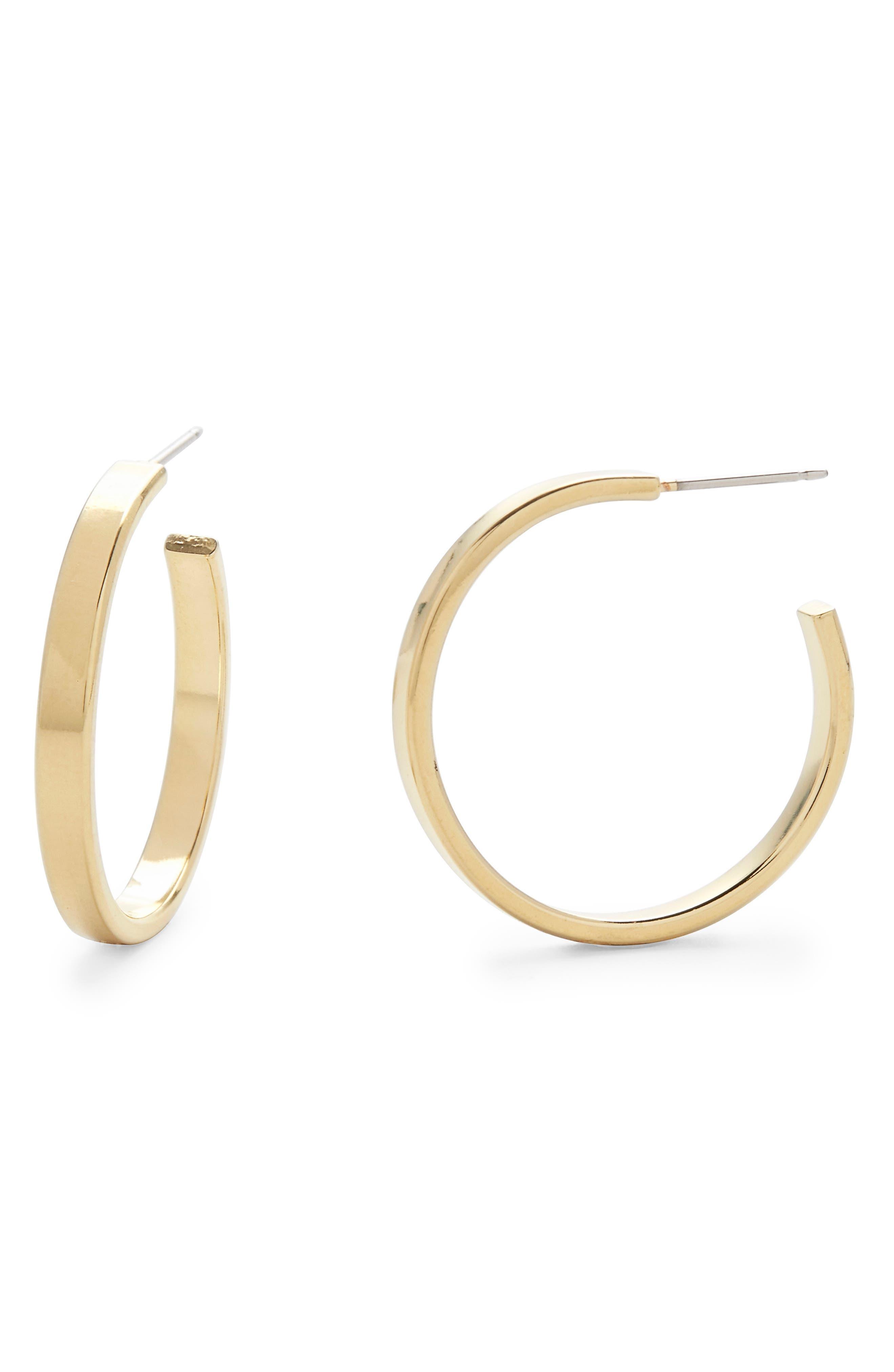 Lexi Flat Hoop Earrings