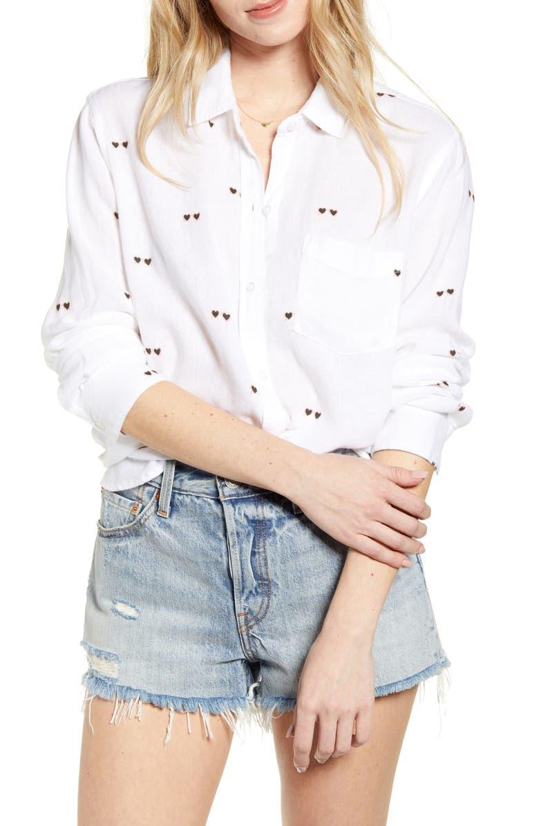 RAILS Charli Shirt, Main, color, HEART SUNNIES