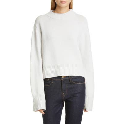Co Bell Sleeve Wool & Cashmere Sweater, Grey