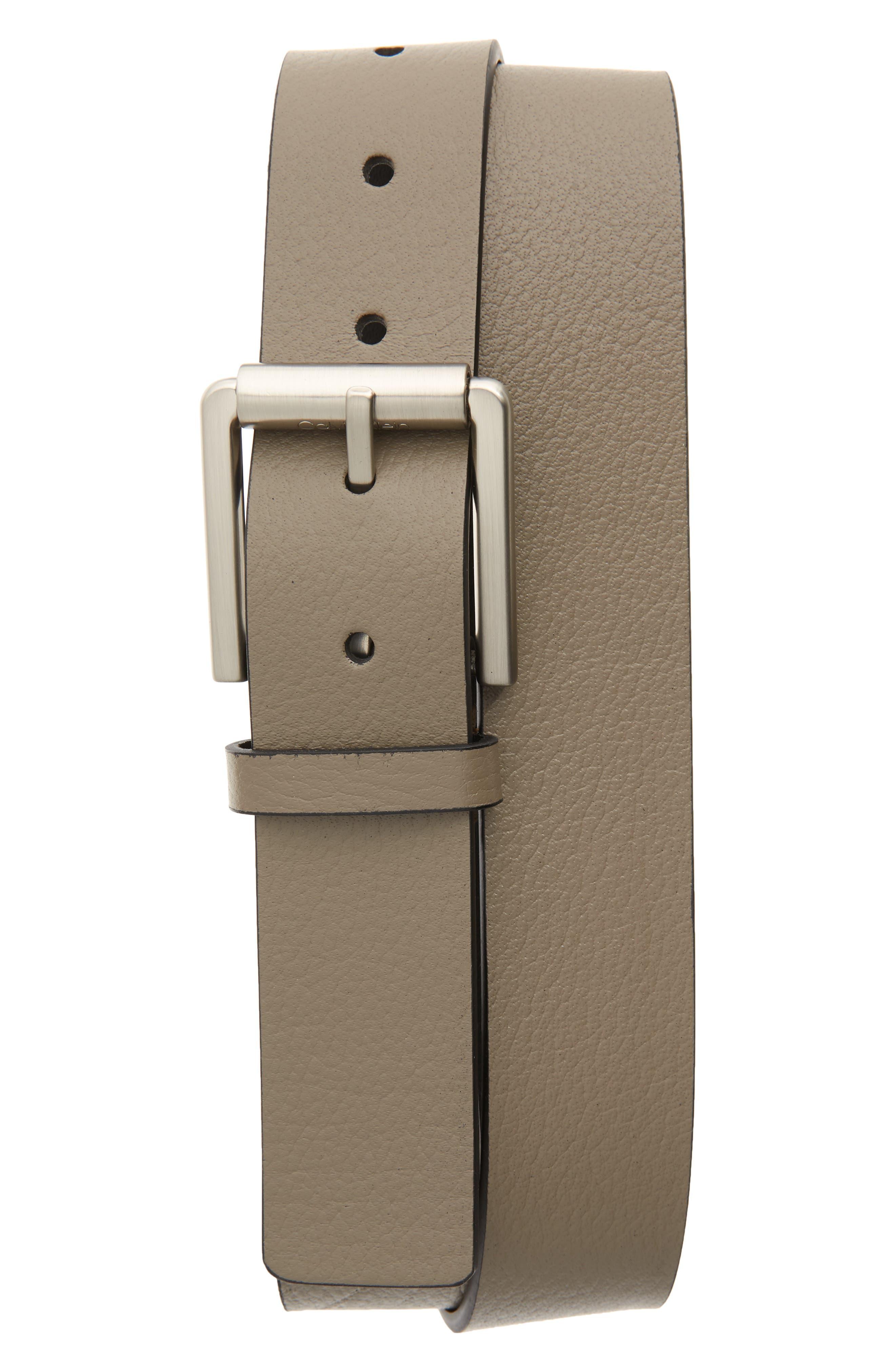 Calvin Klein Belts Textured Faux Leather Belt