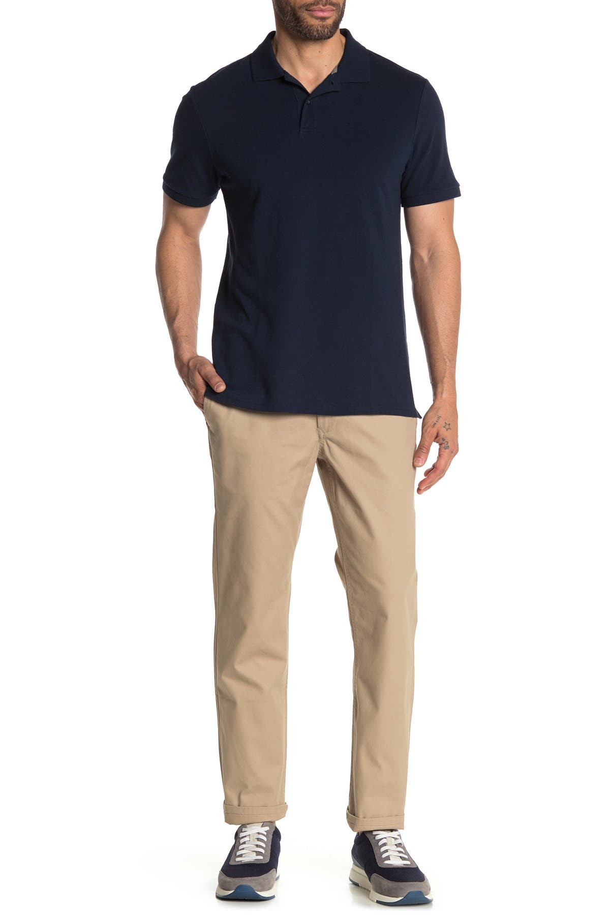 """Image of Bonobos Solid Washed Straight Chino Pants - 30-32"""" Inseam"""