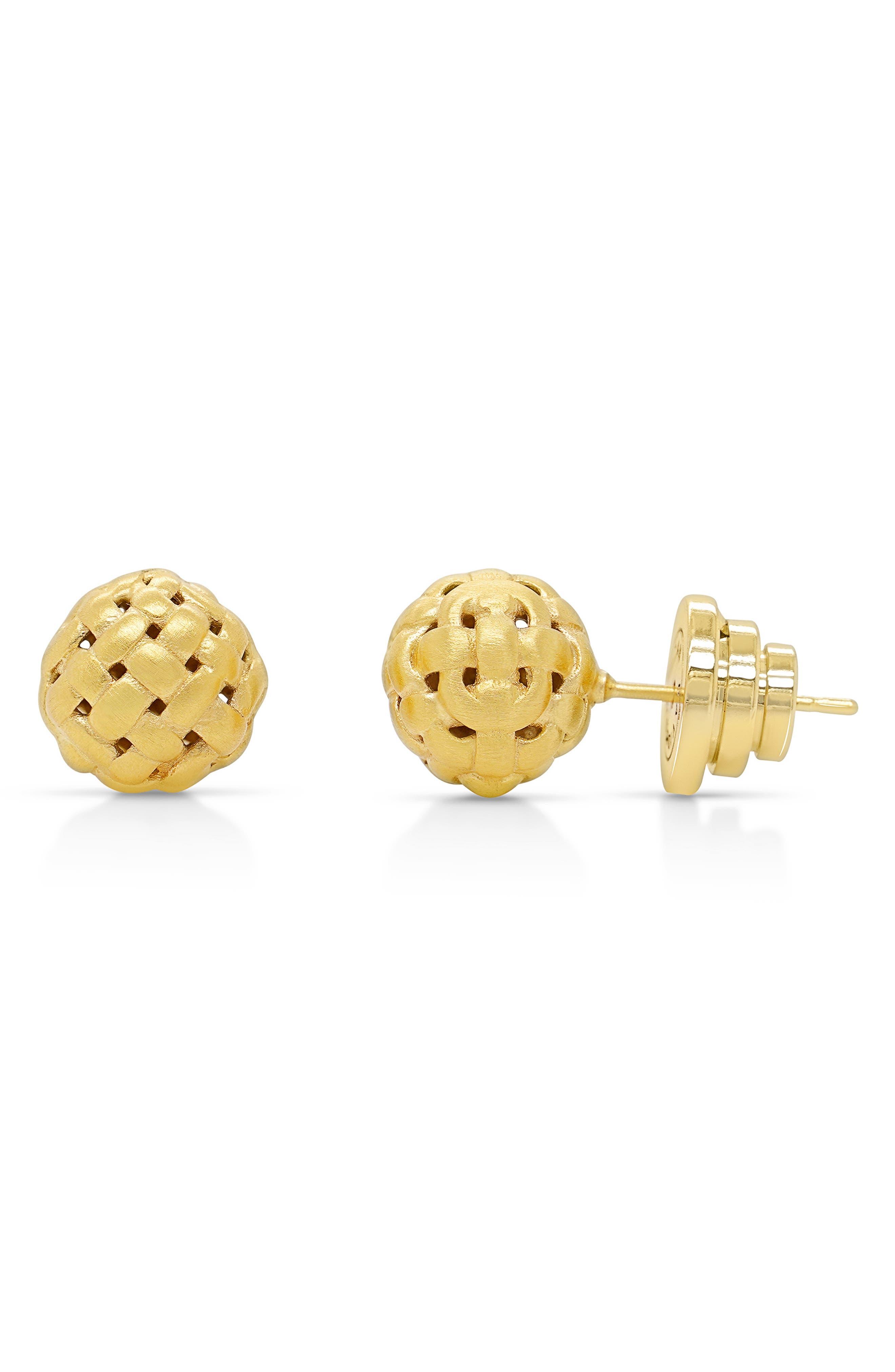 Weave Ball Stud Earrings
