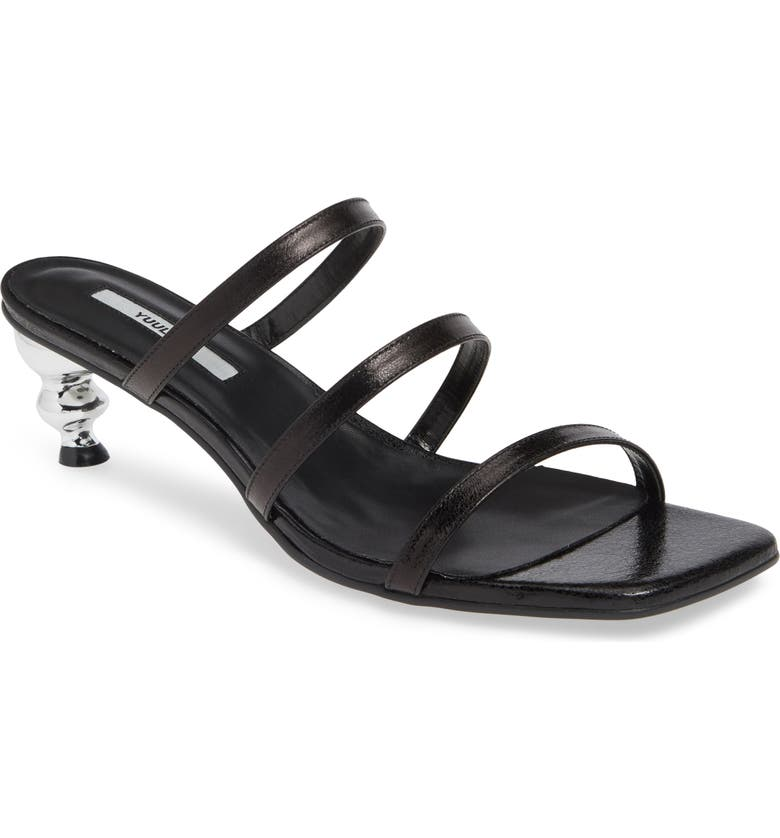 YUUL YIE Gem Strappy Sandal, Main, color, BLACK
