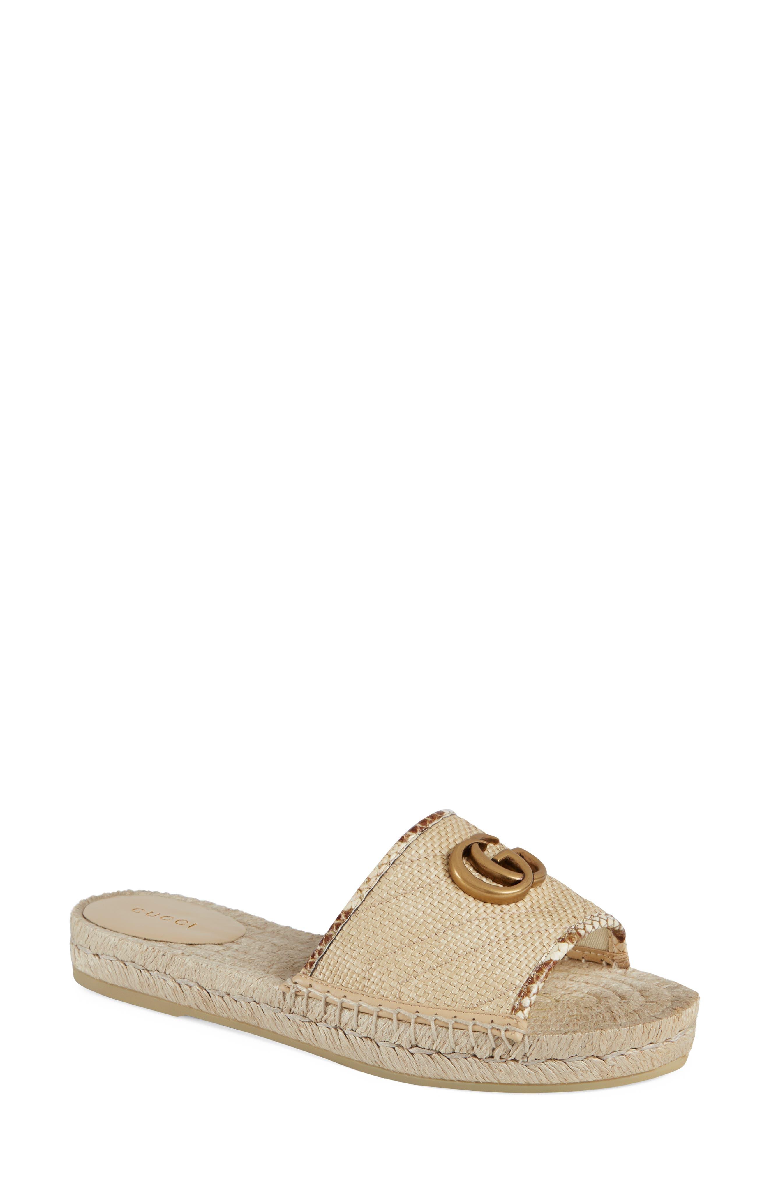Gucci Pilar Espadrille Slide Sandal (Women)