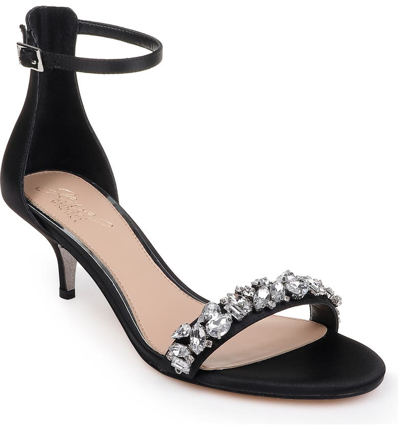JEWEL BADGLEY MISCHKA Dash Embellished Halo Strap Sandal, Main, color, 015