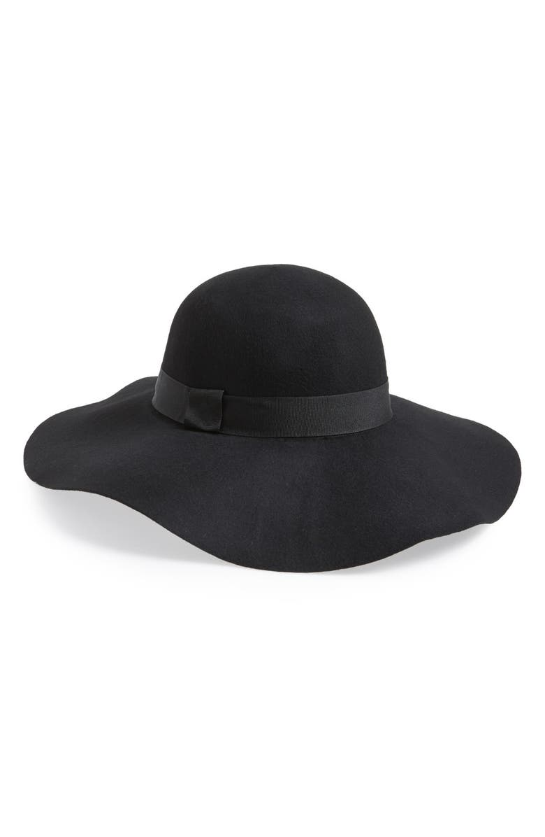 DAVID & YOUNG Floppy Felt Hat, Main, color, 001