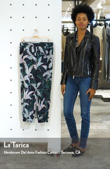 Floral Print Crop Cotton Pants, sales video thumbnail