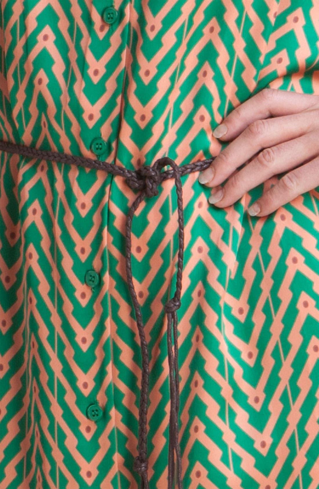 ,                             Print Shirtdress,                             Alternate thumbnail 5, color,                             440