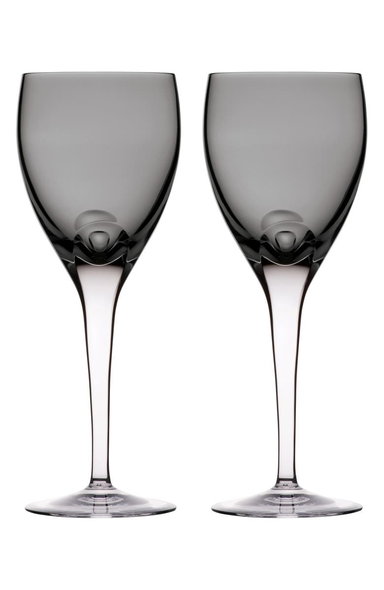 WATERFORD W Set of 2 Lead Crystal Wine Glasses, Main, color, SHALE