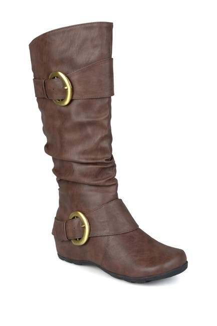 Image of JOURNEE Collection Paris Buckle Mid-Calf Boot