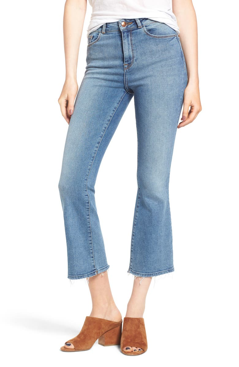 DL1961 Jackie Trimtone High Waist Crop Flare Jeans, Main, color, 425