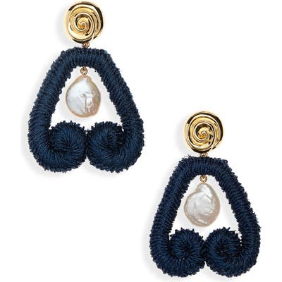 Lizzie Fortunato Scroll Drop Earrings