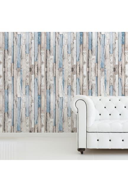 Image of WalPlus Brown Timber Strip Self Adhesive Wallpaper