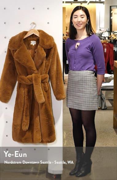 Longline Faux Fur Coat, sales video thumbnail