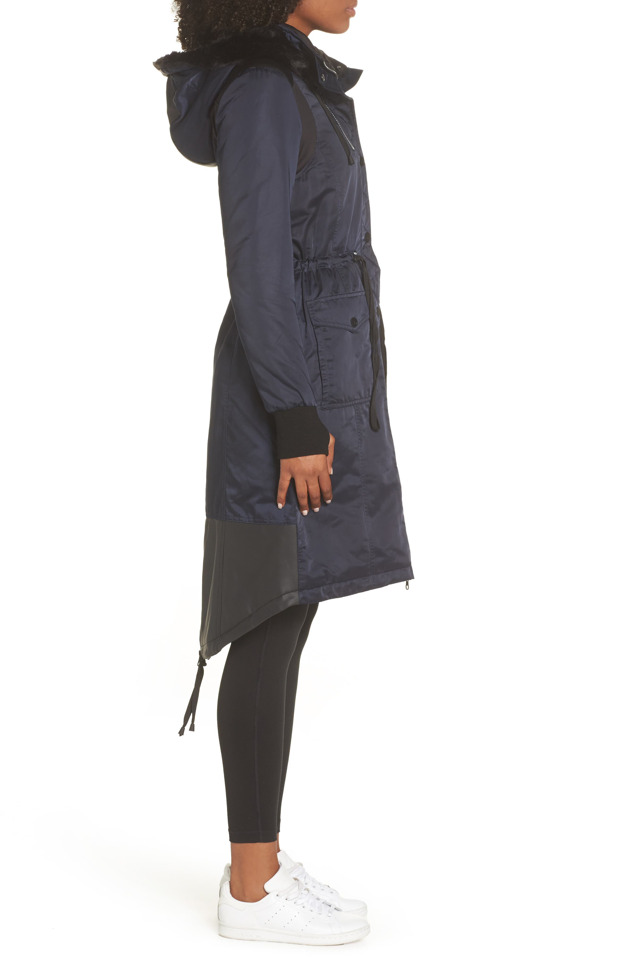 ,                             Locust Water Resistant Hooded Anorak with Faux Fur Trim,                             Alternate thumbnail 4, color,                             003
