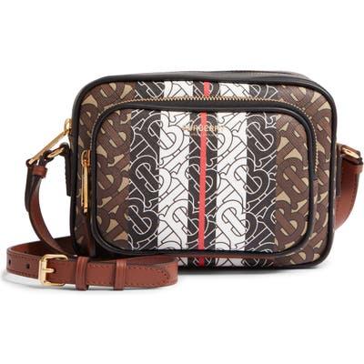 Burberry Small Stripe E-Canvas Camera Bag - Brown