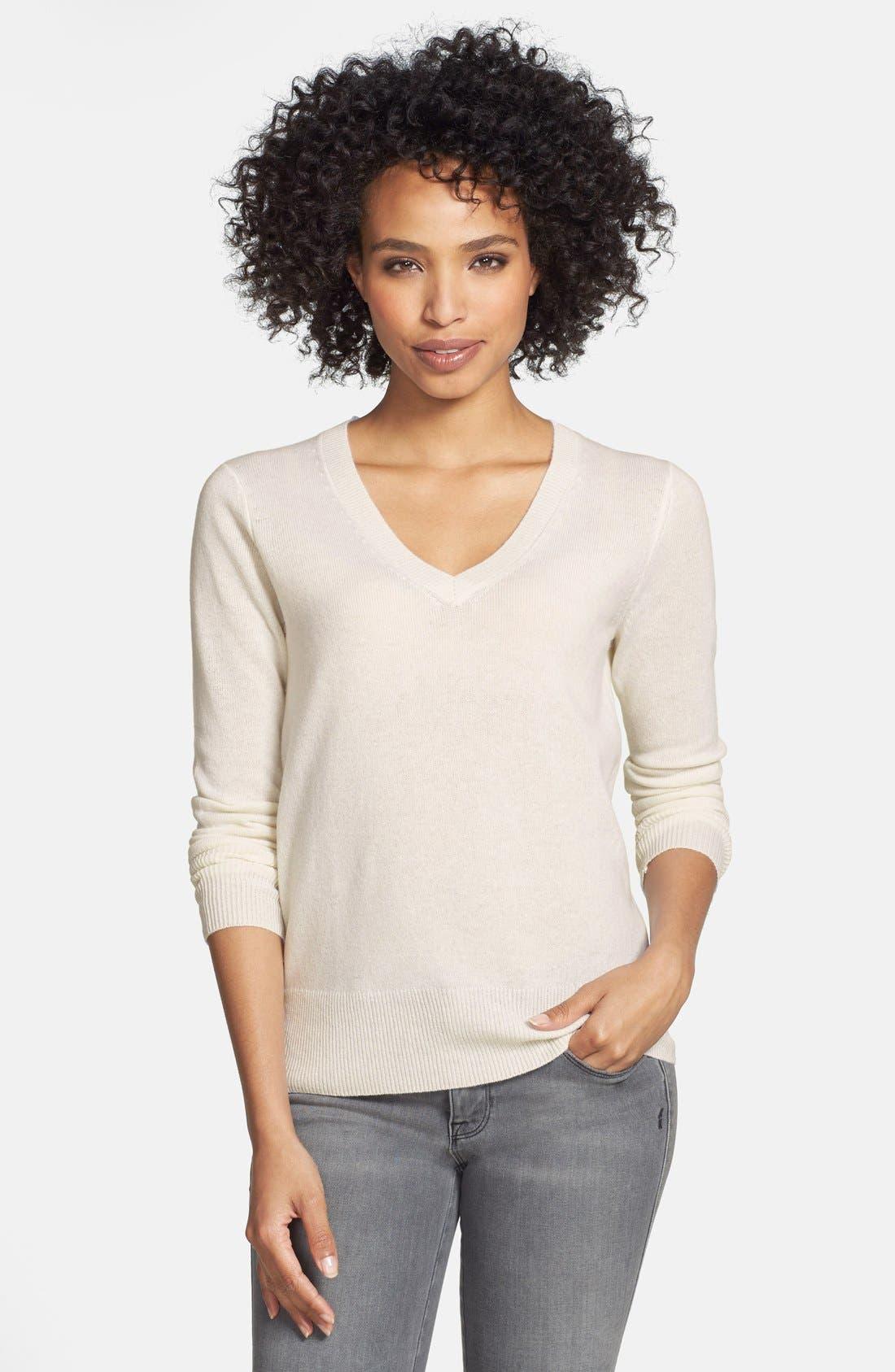 ,                             Cashmere V-Neck Sweater,                             Main thumbnail 89, color,                             900