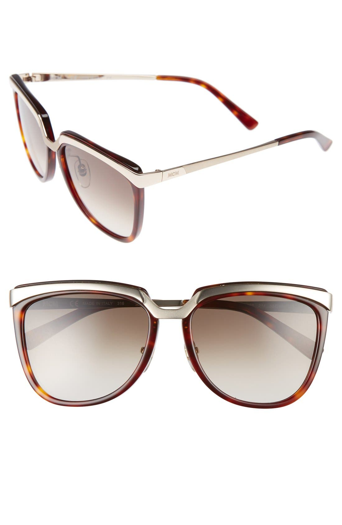 Teacup 55mm Sunglasses, Main, color, HAVANA