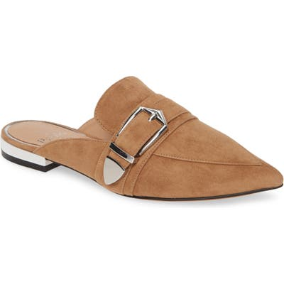 Linea Paolo Ace Buckle Pointed Toe Mule, Brown