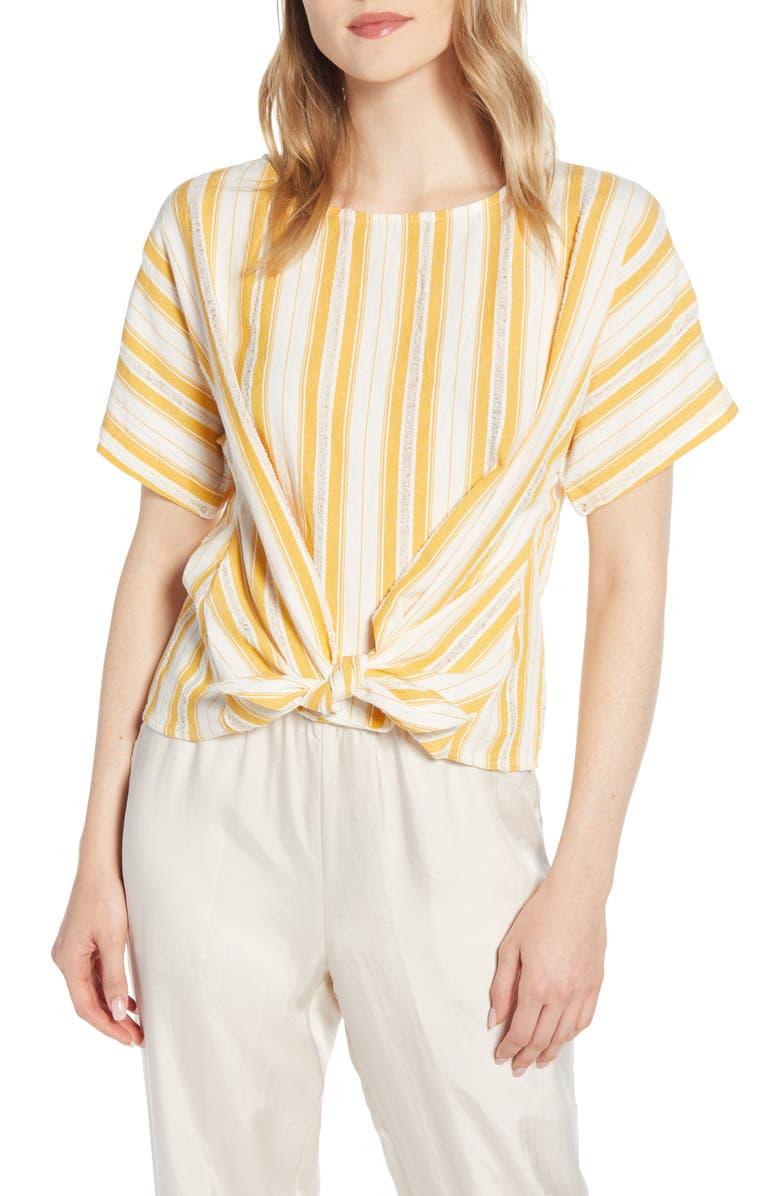 LOU & GREY Skip Dobby Stripe Top, Main, color, 100