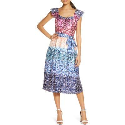Julia Jordan French Twill Midi Dress, Ivory