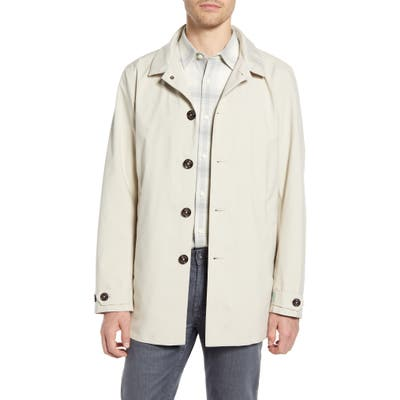 Save The Duck Recycled Waterproof Rain Jacket, Ivory