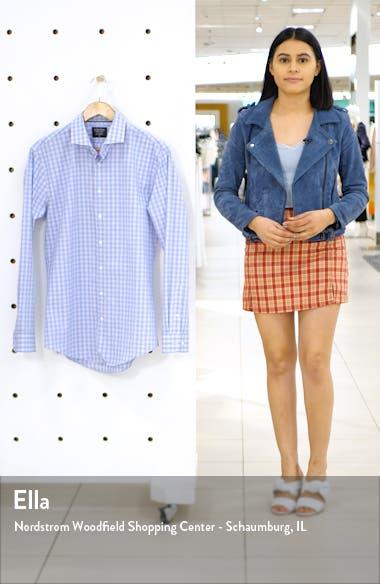 Tech-Smart Trim Fit Stretch Plaid Dress Shirt, sales video thumbnail