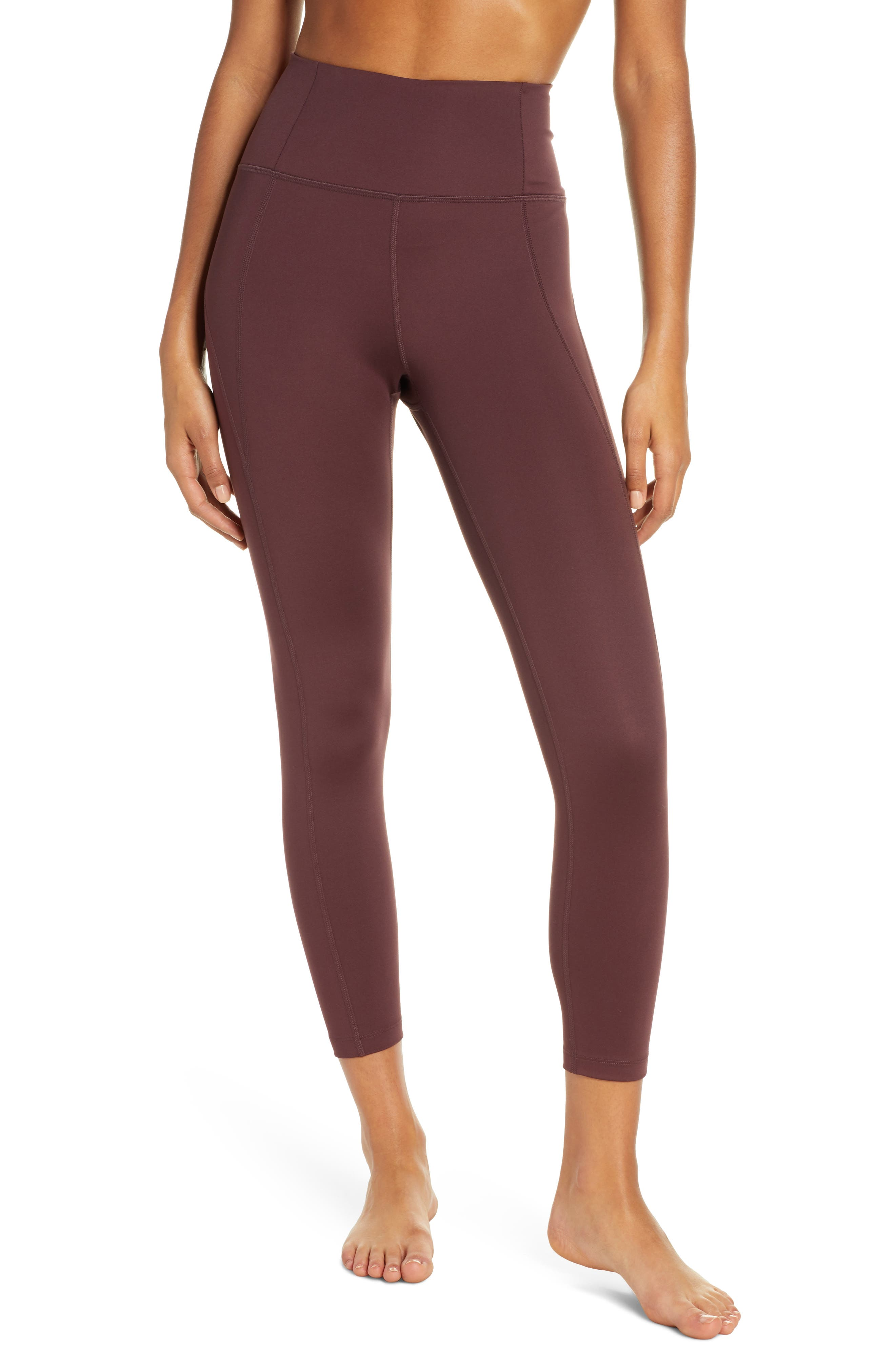 Girlfriend Collective High Waist 7/8 Leggings, Brown
