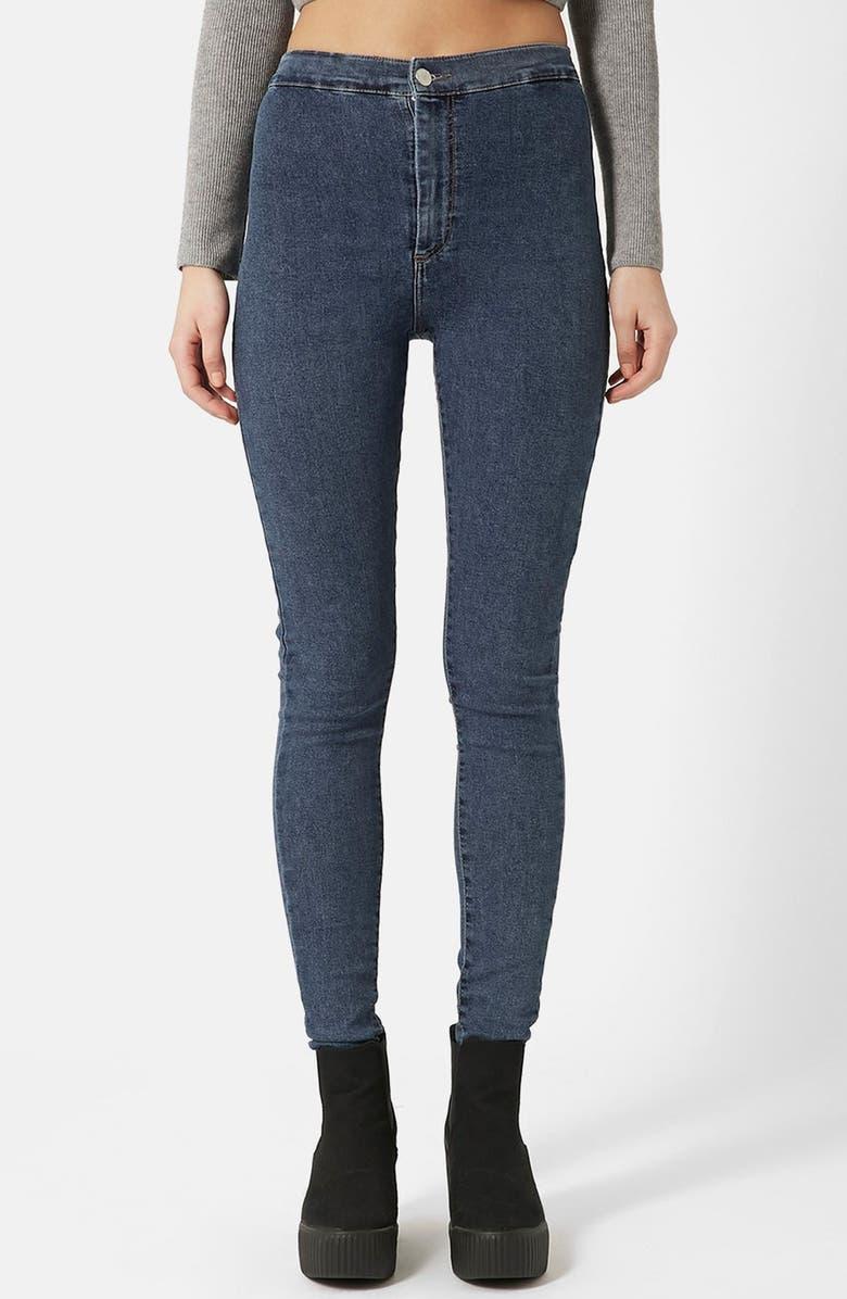 TOPSHOP Moto 'Joni' High Waist Skinny Jeans, Main, color, 400
