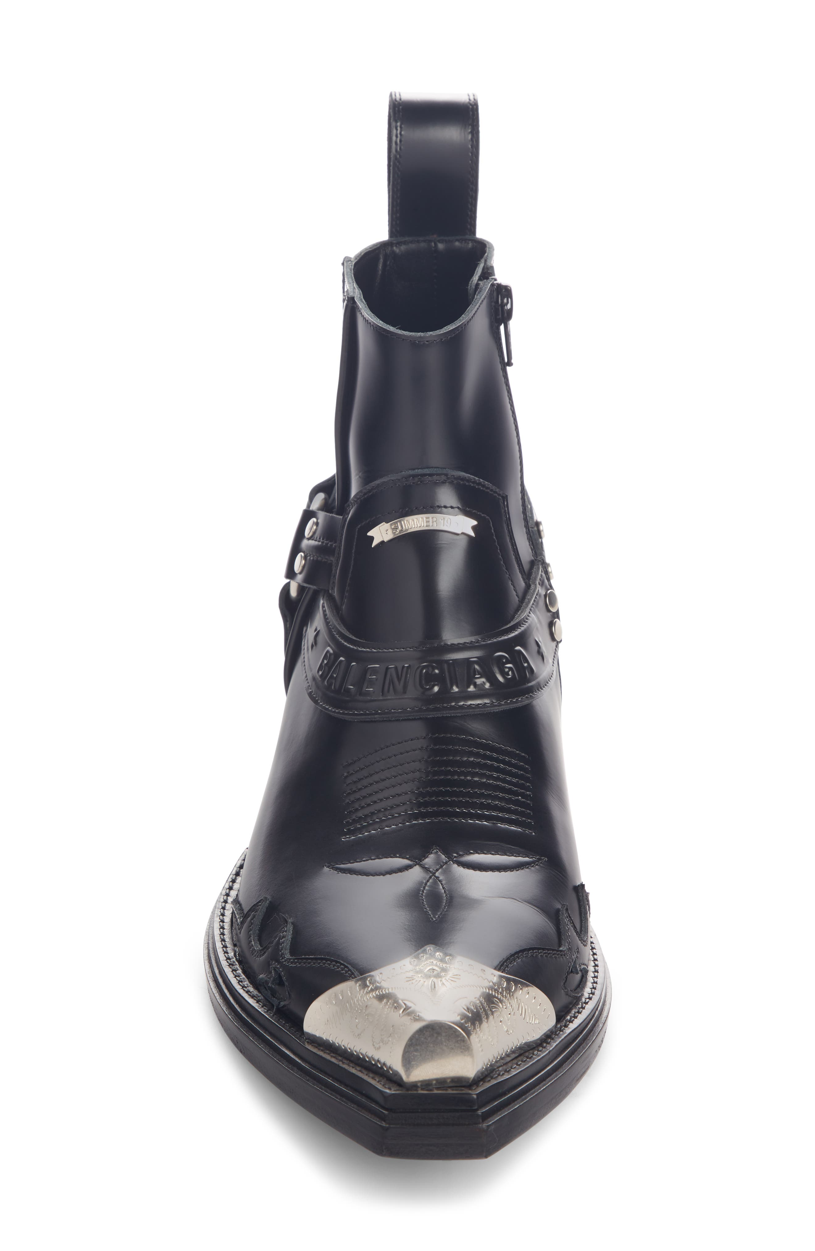 ,                             Santiag Harness Boot,                             Alternate thumbnail 4, color,                             BLACK