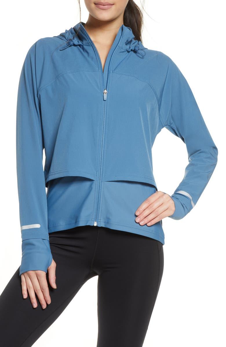 SWEATY BETTY Fast Track Jacket, Main, color, STELLAR BLUE