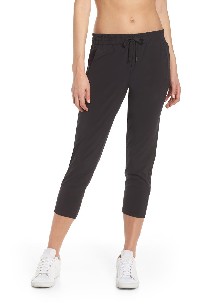 ZELLA Adapt Stretch Crop Pants, Main, color, BLACK