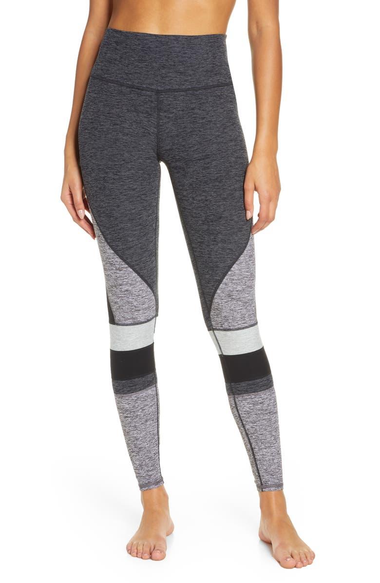 ALO Momentum Alosoft High Waist Leggings, Main, color, DARK HEATHER GREY/DOVE GREY
