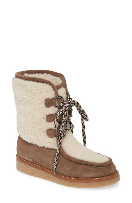 Image of Aquatalia Wynter Water Resistant Genuine Shearling Boot