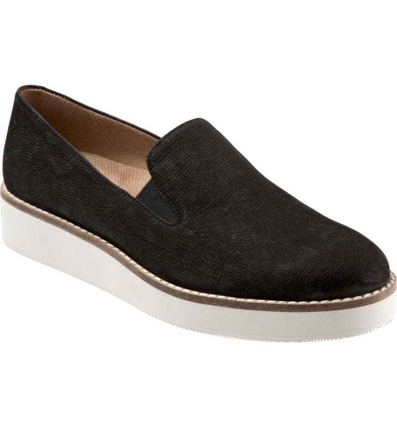 SOFTWALK<SUP>®</SUP> Whistle Slip-On, Main, color, BLACK EMBOSSED