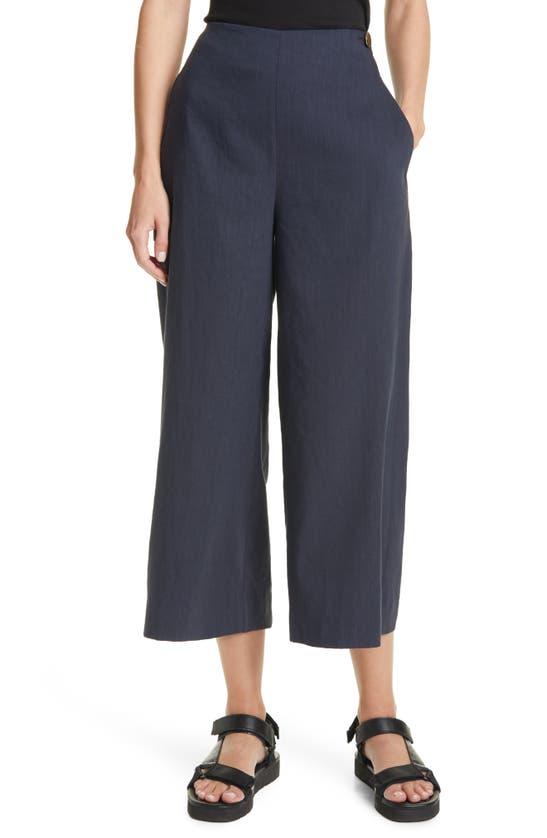 VINCE Linens HIGH WAIST WIDE LEG PANTS