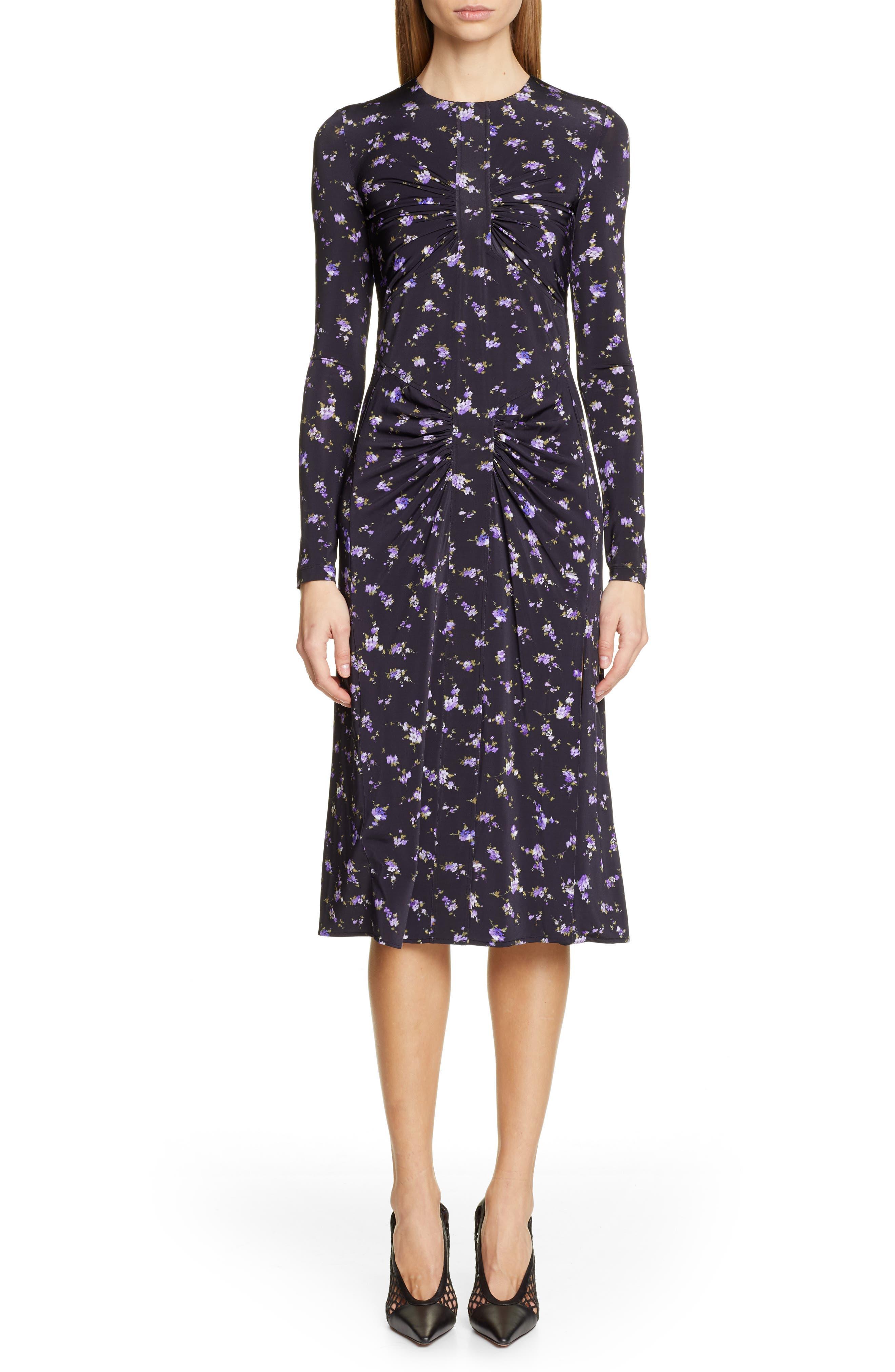 Altuzarra Floral Print Dress, 4 FR - Black