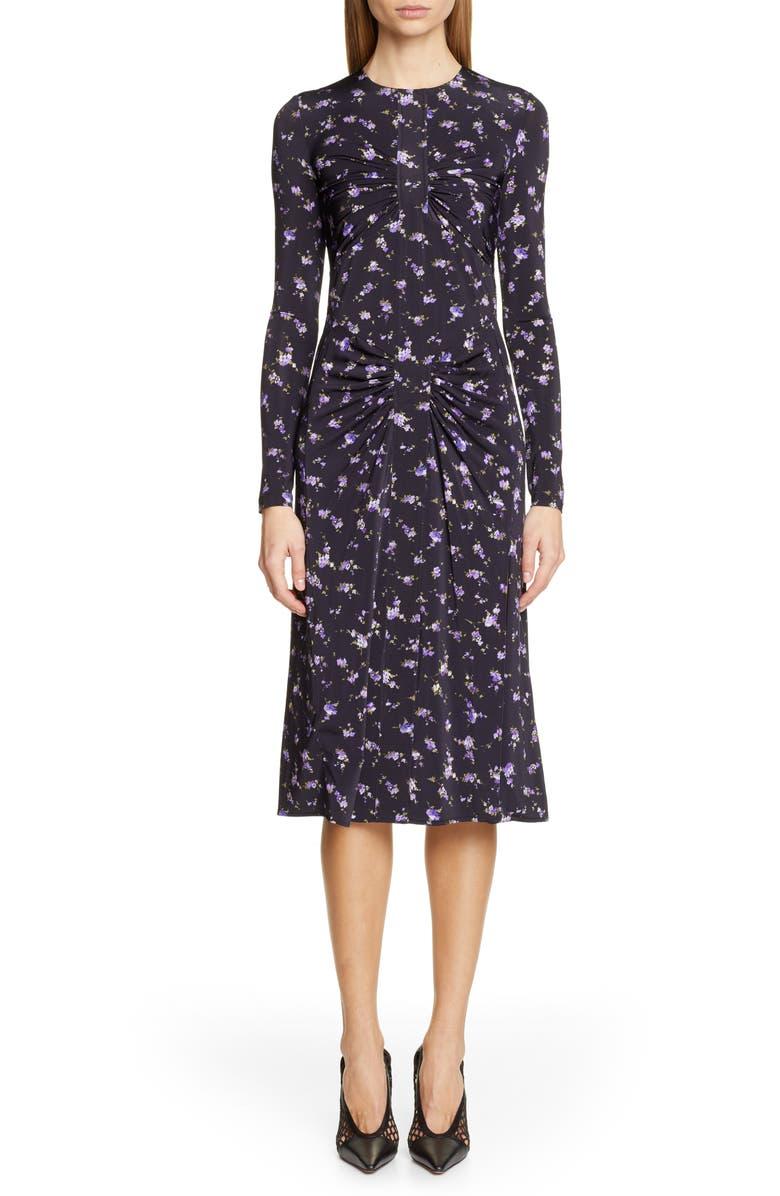 ALTUZARRA Floral Print Dress, Main, color, 001