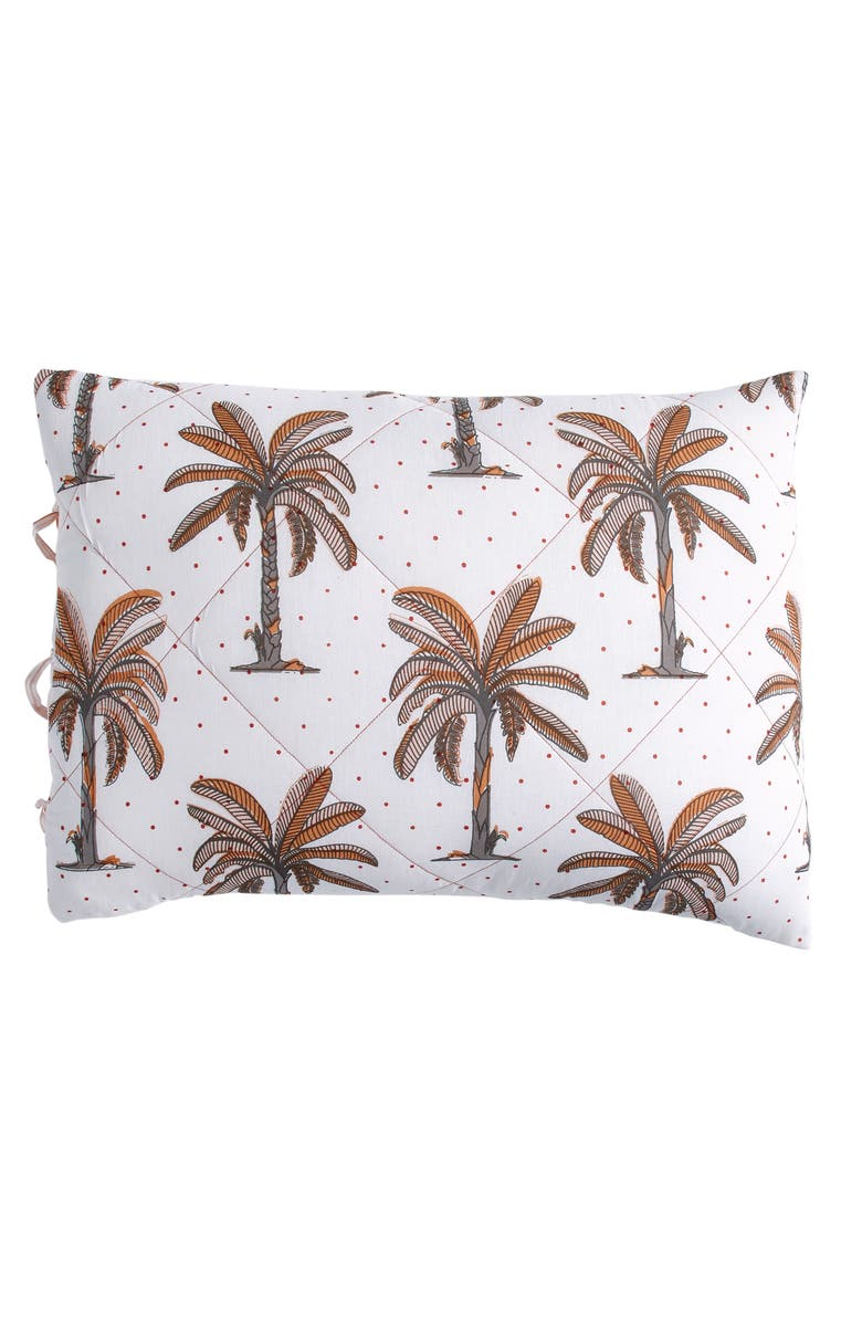PERI HOME Palm Tree Sham, Main, color, BLUSH