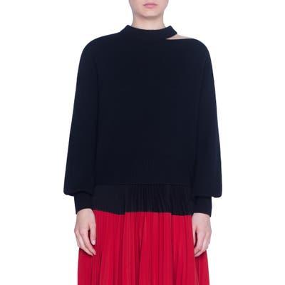 Akris Punto Luna Cutout Wool & Cashmere Sweater