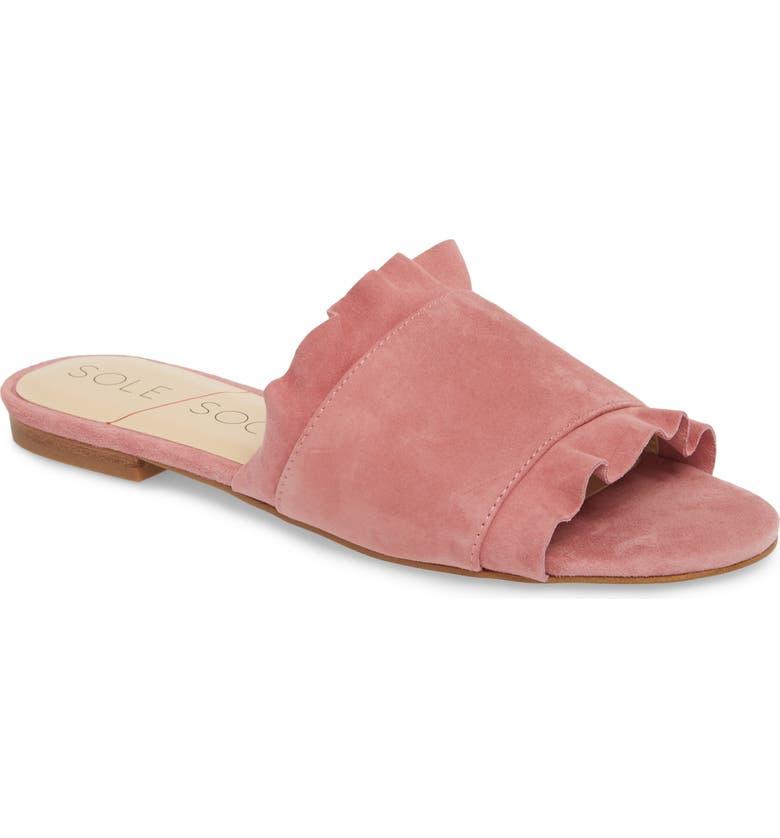 SOLE SOCIETY So-Madalayne Flat Sandal, Main, color, 658