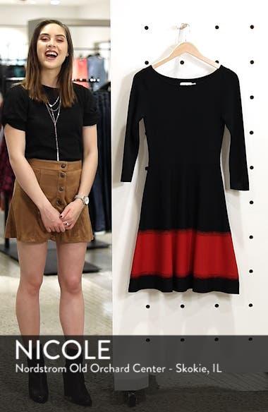 Contrast Stripe Fit & Flare Dress, sales video thumbnail